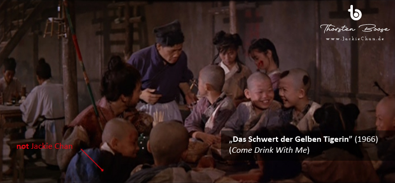 "That boy in ""Come Drink With Me"" is not Jackie Chan - copyright 1966 by Shaw Brothers"
