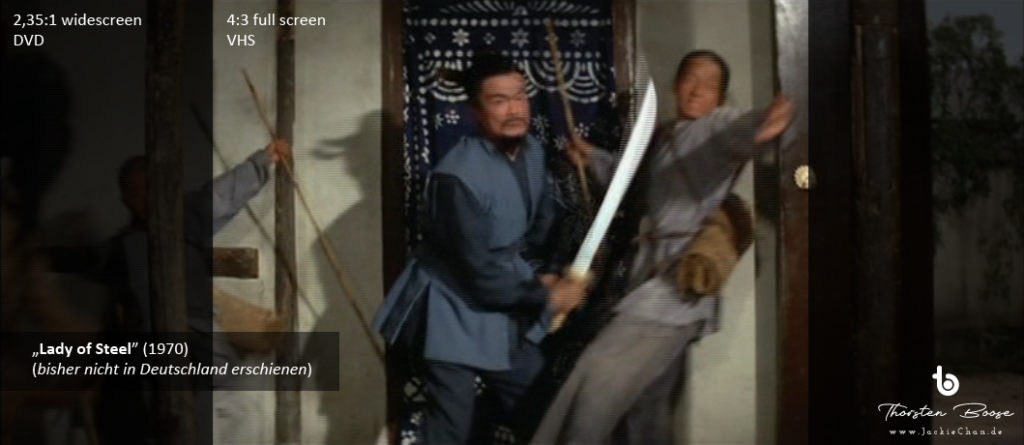 "Jackie Chan in the movie ""Lady of Steel"" (1970) - image format comparison - copyright 1970 by Shaw Brothers"