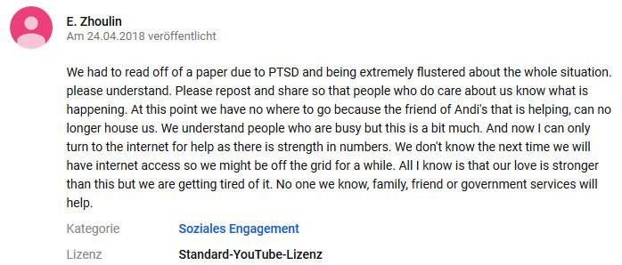 Kommentar von Etta Ng Chok Lam unter dem Originalvideo