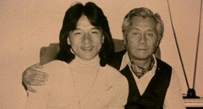 """Fig. 2: A young Jackie Chan with his father Charles Chan Chi-Ping, approx. 1979. (Source: """"Traces Of A Dragon"""" DVD, Universum Film)"""