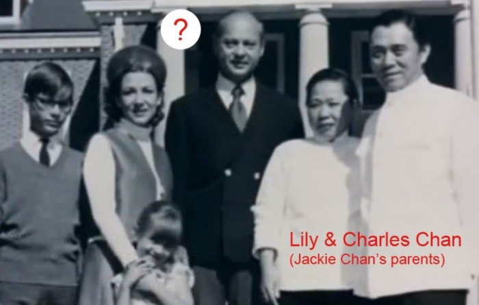 """Fig. 6: Who are these people next to Charles and Lily Chan? (Source: """"Traces Of A Dragon"""" DVD, Universum Film)"""