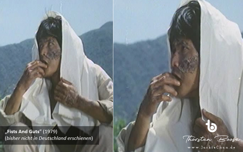 The leper king is spoken to by the film heroes on his quarantine island and in this short shot reveals his disfigured face to the camera for the first time (s1e1). Looks like Lam Hak-Ming.