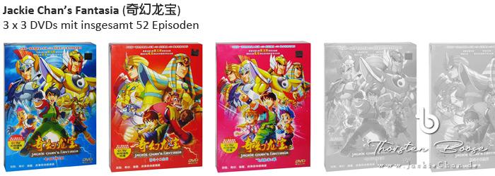 Jackie Chan's Fantasia (奇幻龙宝) 3 x 3 DVDs mit insgesamt 52 Episoden
