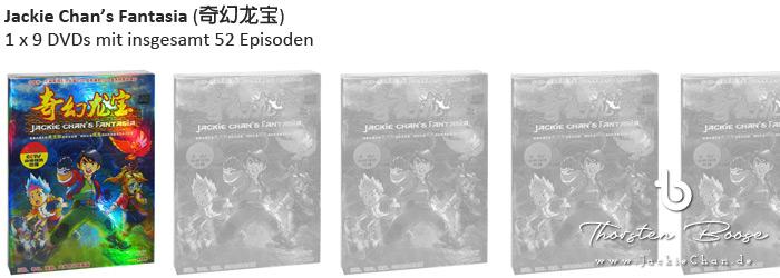 Jackie Chan's Fantasia (奇幻龙宝) 1 x 9 DVDs mit insgesamt 52 Episoden