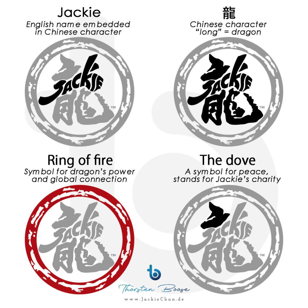 Jackie-Chan-Logo, Erklärungen © logo is copyright by The JC Group